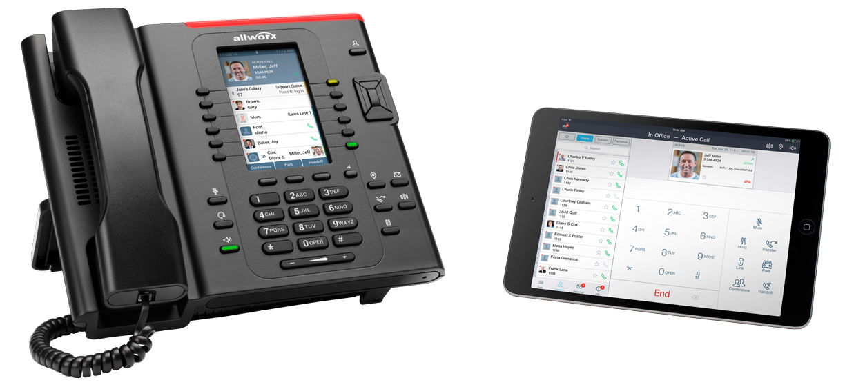 Allworx phone and tablet